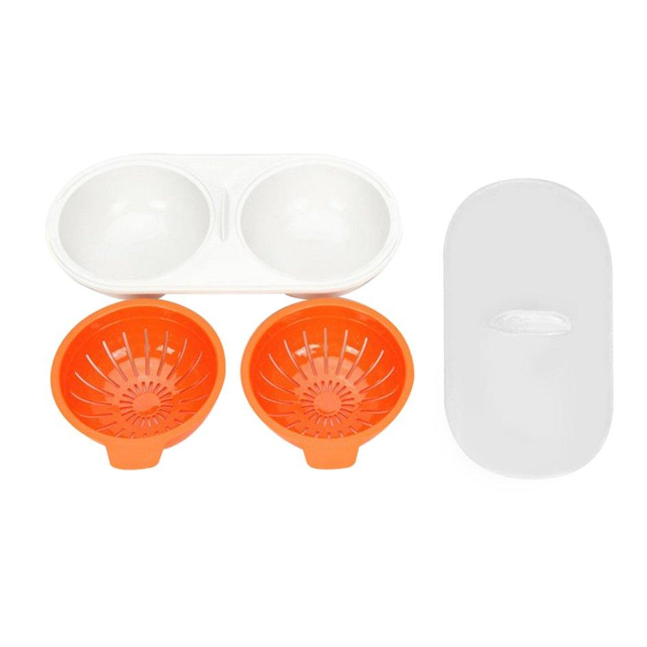 Oh Kitchen Steamed Egg Bowl Microwave Oven Egg Poacher Cook Pods Egg Tool Baking Orange - Intl By Ohbuybuybuy.