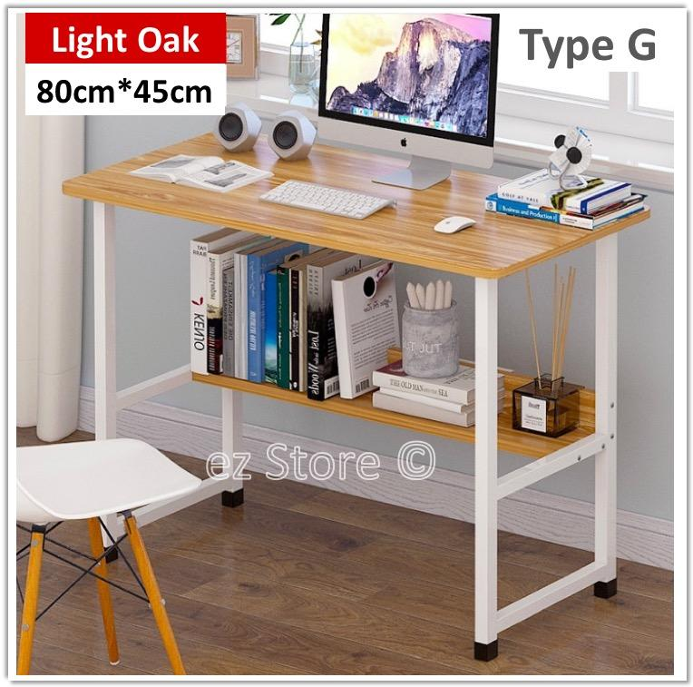 Laptop Table Study Desk Office Stand With Book Shelf Shelves Pc Notebook Lazy Wooden Wood Stand Holder Computer Riser By Puppies Home.