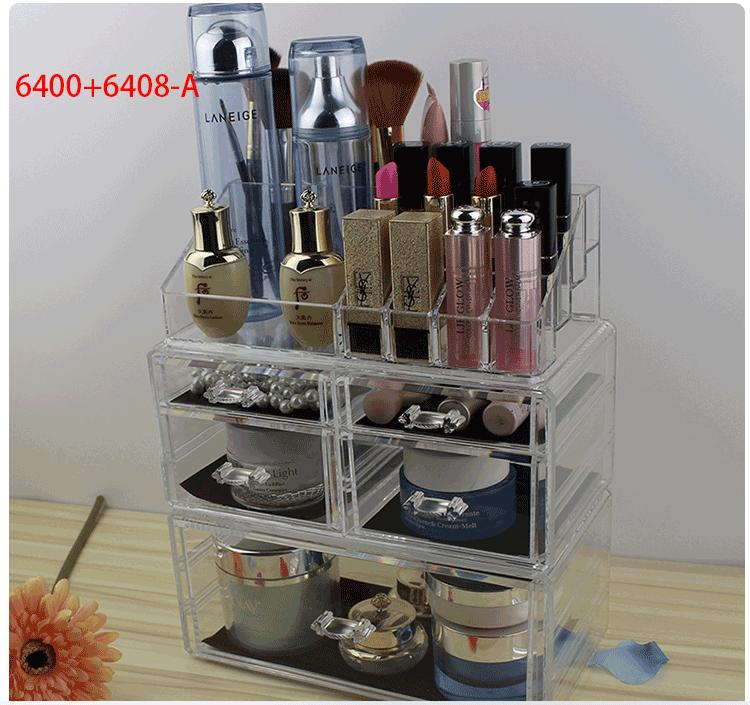 Compare Prices For Acrylic Make Up Organizer 2 Drawer Type5 8 1 Slot