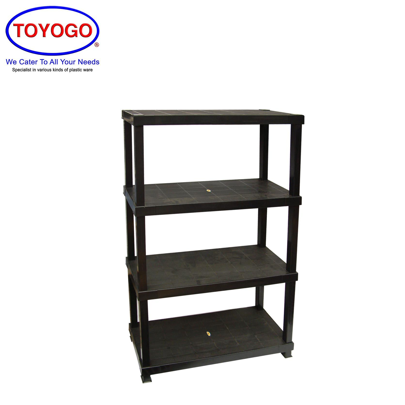 Toyogo Multi Function DIY Shelving Rack System (4 Tier) (887-4)