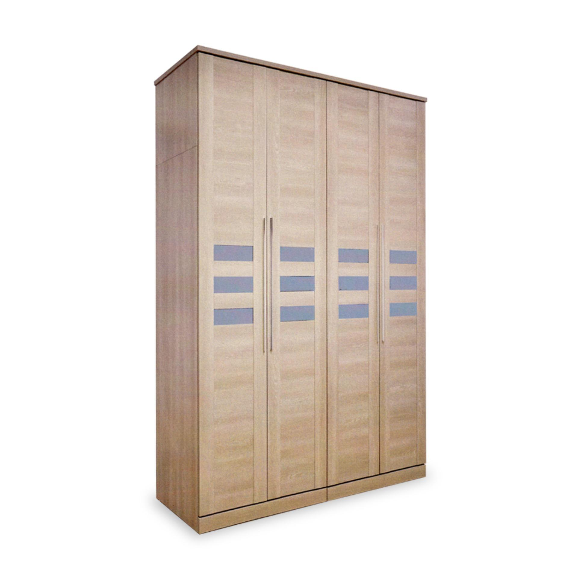 Antonia 4 Doors Wardrobe (FREE DELIVERY)(FREE ASSEMBLY)