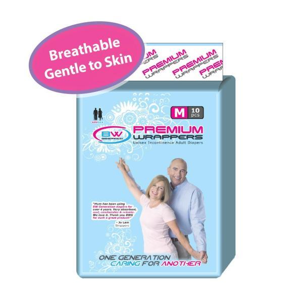 Buy Adult Diaper: Premium Breathable Diapers Size M 1CTN (8Bags X 10pcs/bag) Singapore