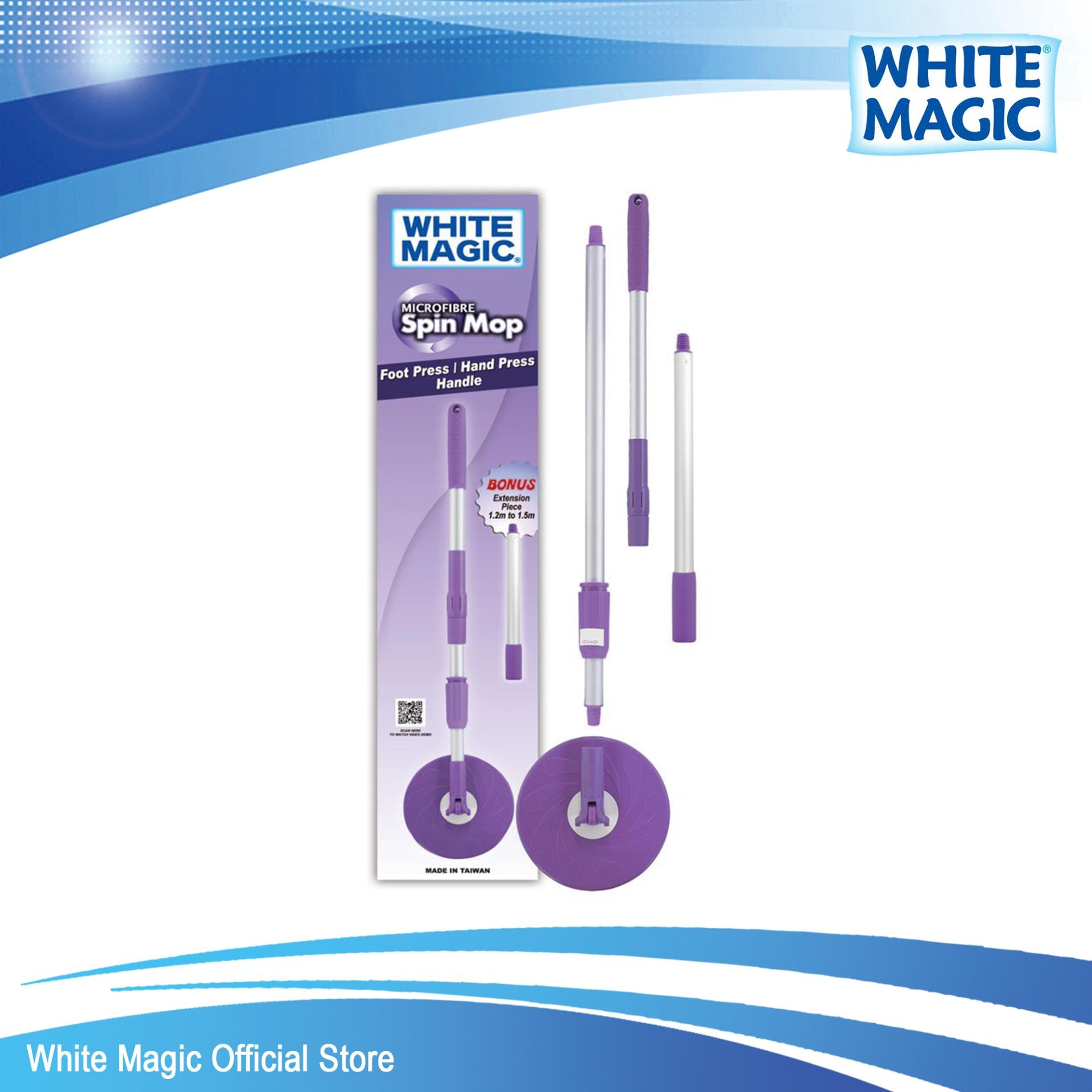 Buy White Magic Spin Mop Replacement Handle Hand Foot Press Online