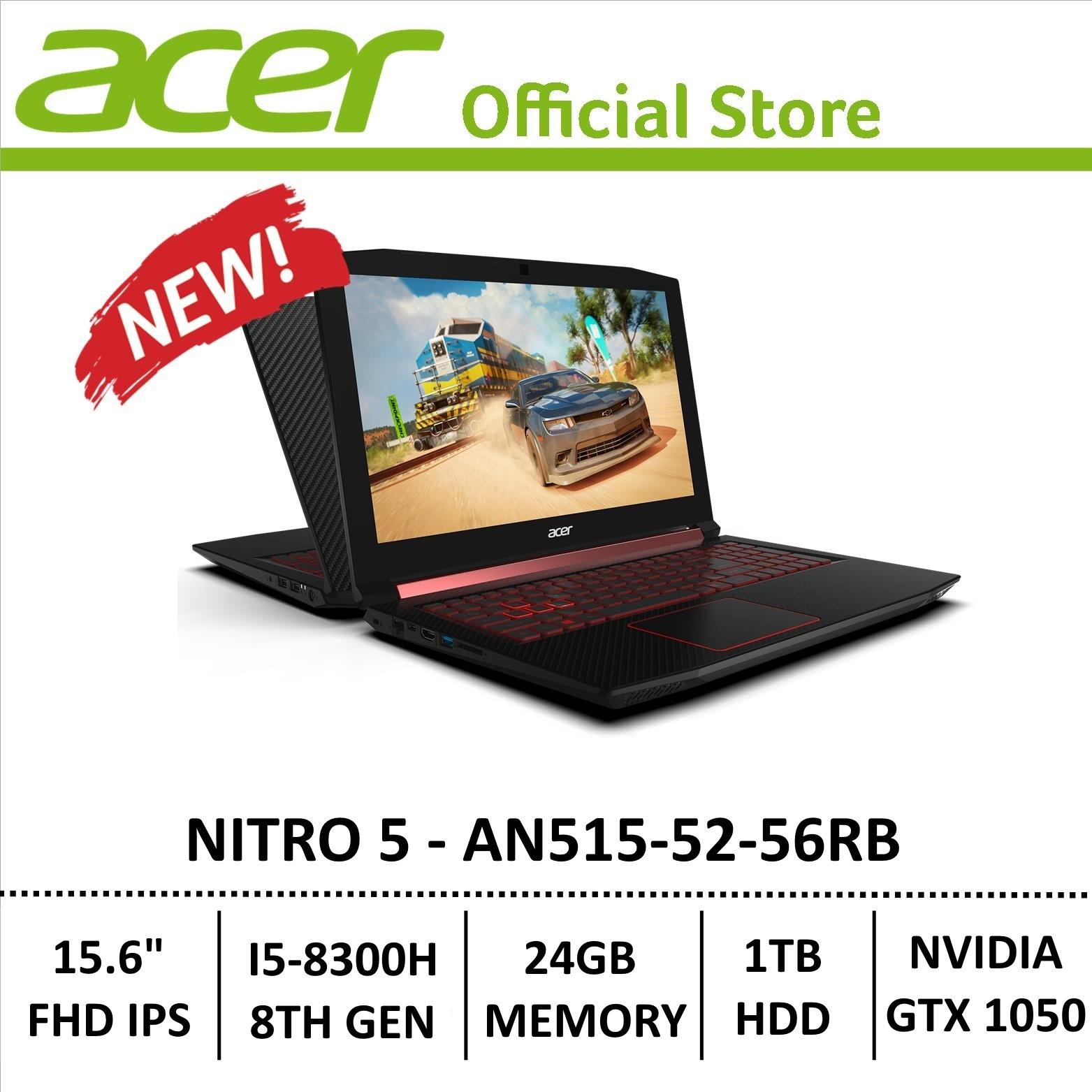 Acer Nitro 5 An515-52-56rb Gaming Laptop - 8th Generation Core I5+ Processor With Gtx 1050 Graphics (optane Memory) By Acer Official Store.