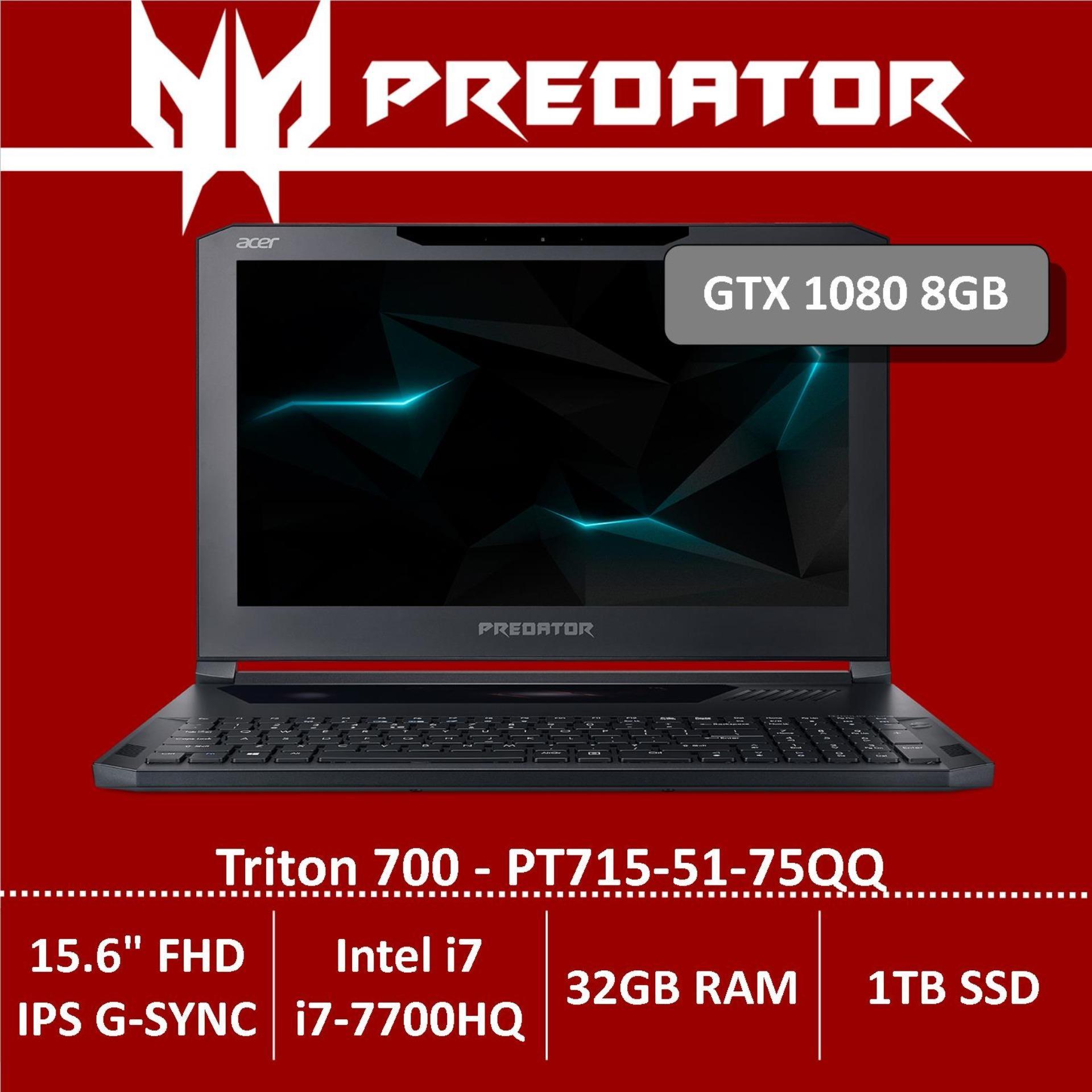 Predator Triton 700 PT715-51-75QQ Gaming Laptop (NVIDIA® GeForce® GTX 1080 with MAX-Q design and with 8 GB of dedicated GDDR5X VRAM)