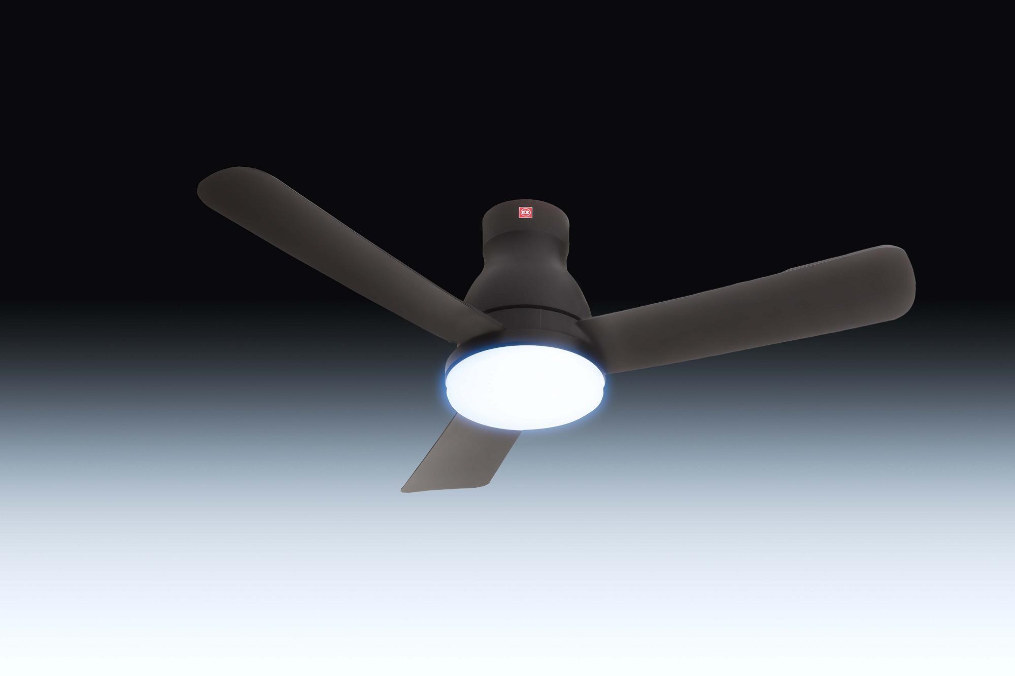 KDK U48FP Remote Ceiling Fan (DC Motor with Light)