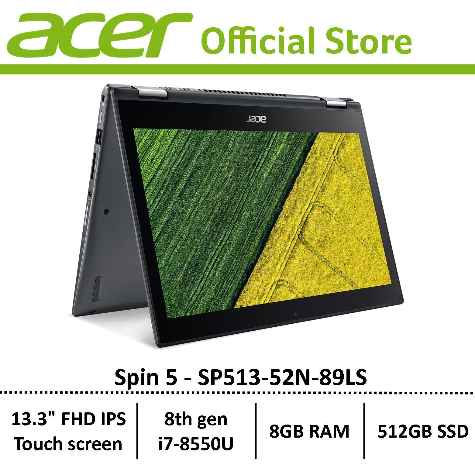 Acer Spin 5 SP513-52N-89LS Convertible Laptop - Free astone speaker