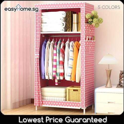 Wardrobe GY70 - Clothes Rack/ Closet / Hanger Shelves Storage