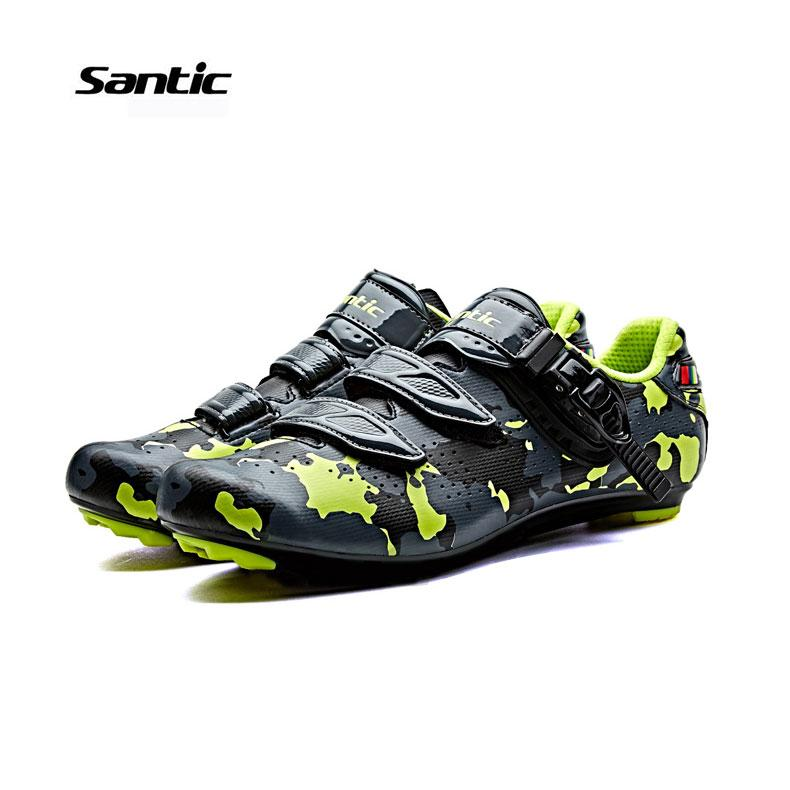Price Comparisons For Santic Mtb Road Cycling Bicycle Shoes Bike Self Locking Look Spd Sl Speedplay System Men And Women Shoese Euipment Camouflage Series 3 Colors Bicycle Shoes Two Type Shoes