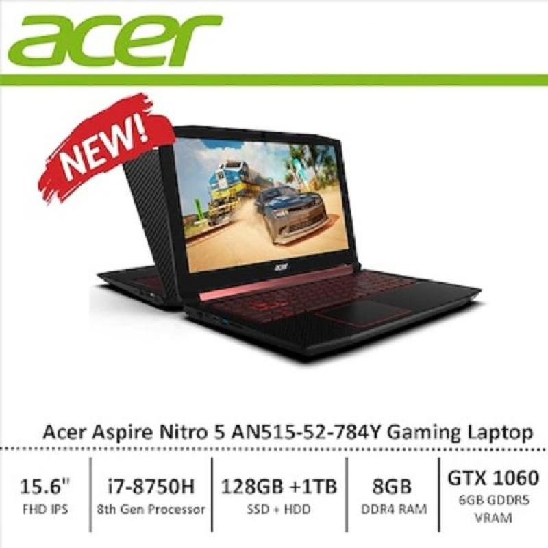 Acer AN515-52-784Y Nitro 5 15.6INCH FHD i7-8750H 8GB DDR4 128GB SSD + 1TB HDD Nvidia GTX1060 W10