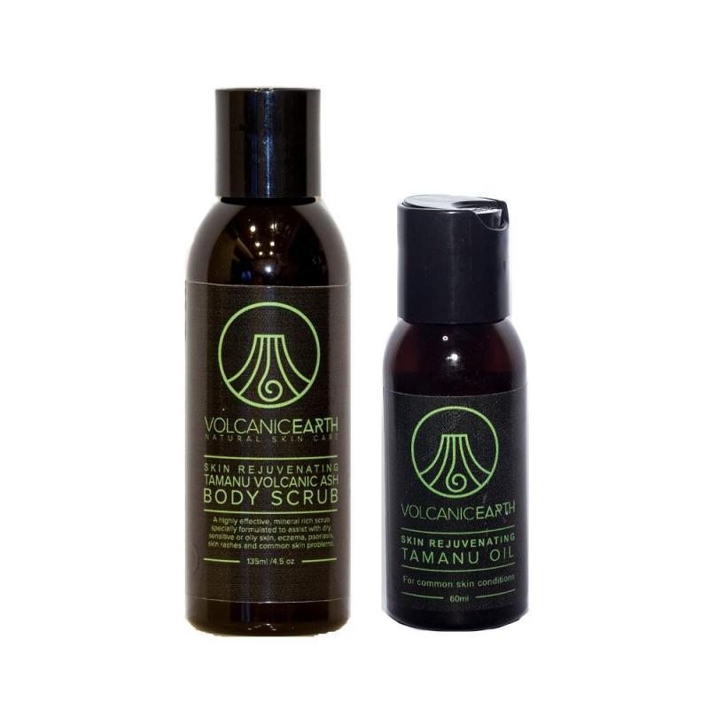 Buy Volcanic Earth Organic Tamanu Volcanic Ash Body Scrub 135ml + 100% Pure Tamanu Oil 60ml Value Set Singapore