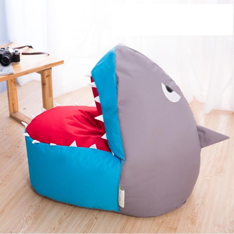Shark beanbag chair Sofa Children Single Cute Cartoon Art Shark Lazy Sofa Creative Chair Bed Couch Couch Rice Animal Seat