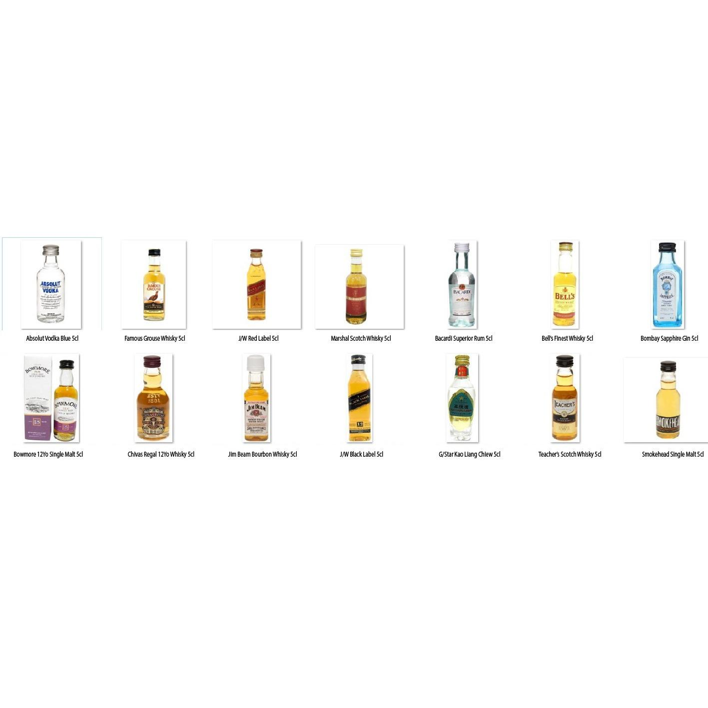 [chivas] Dark Spirits With White Spirits Miniature Set (14 In 1) By Newcastle Drinks.