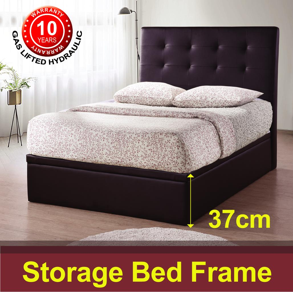 Jersey Storage Bed Frame - Dark Chocolate - Limited Offer