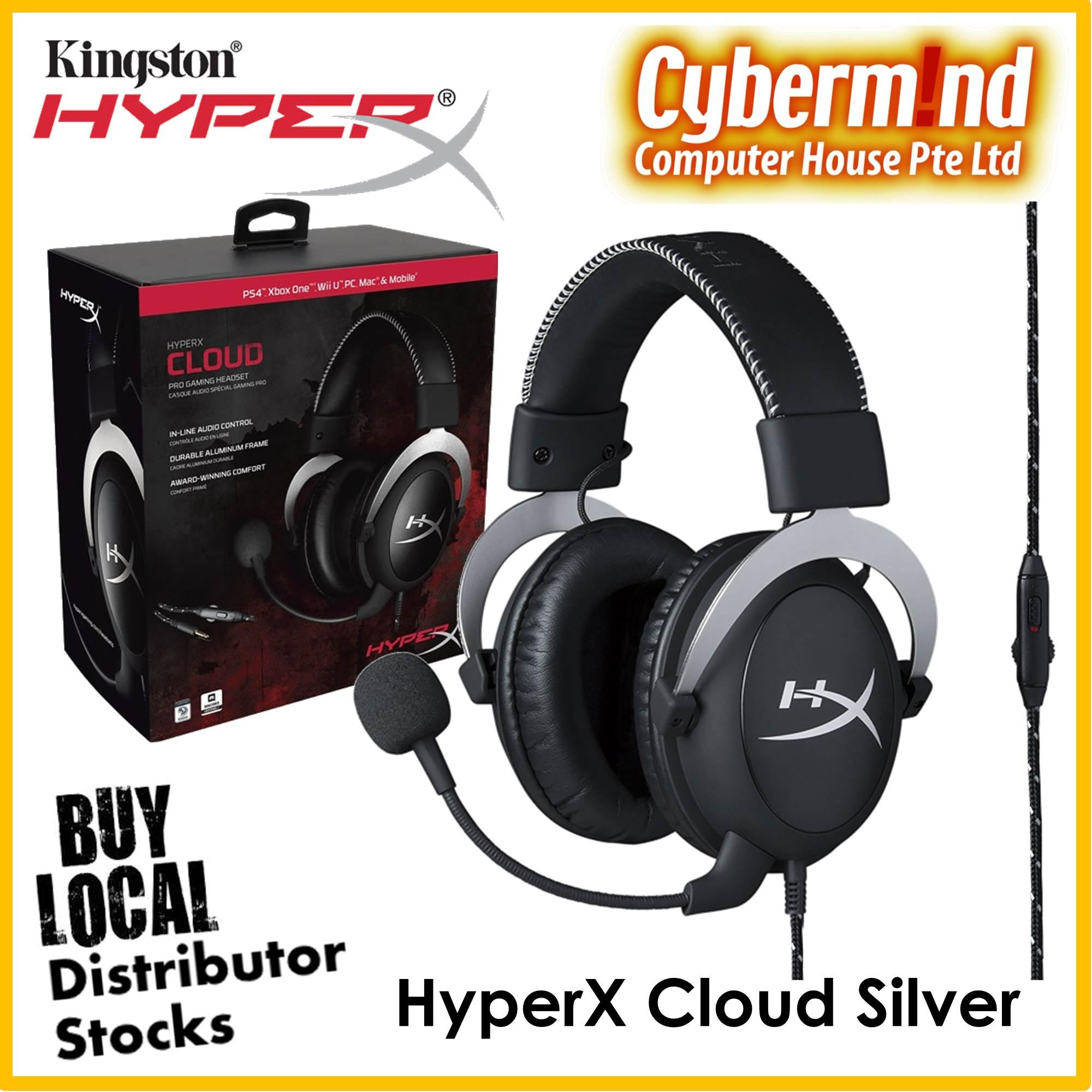 Kingston HyperX Cloud Pro Gaming Headset (Cloud Silver   HX-HSCL-SR  b6dbdb36e328b