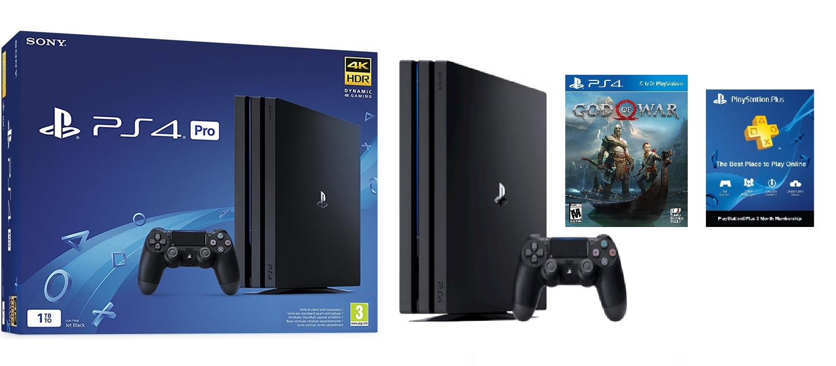 Latest Sony Playstation Consoles Products Enjoy Huge Discounts 4 Pro 1tb Region 3 Ps4 4k Hdr Console Black God Of War 2018