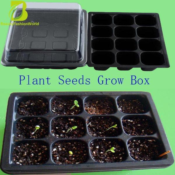 Durable 12 Cells Hole Plant Seeds Grow Box Tray Insert Propagation Cloning Case