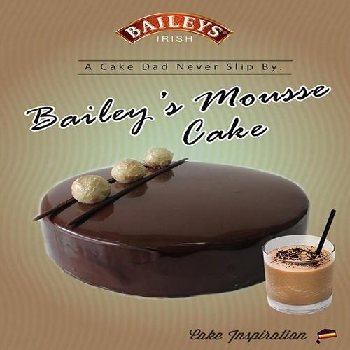 Baileys Irish Cream Mousse Cake Deluxe 8 Inch Round By Cakeinspiration.