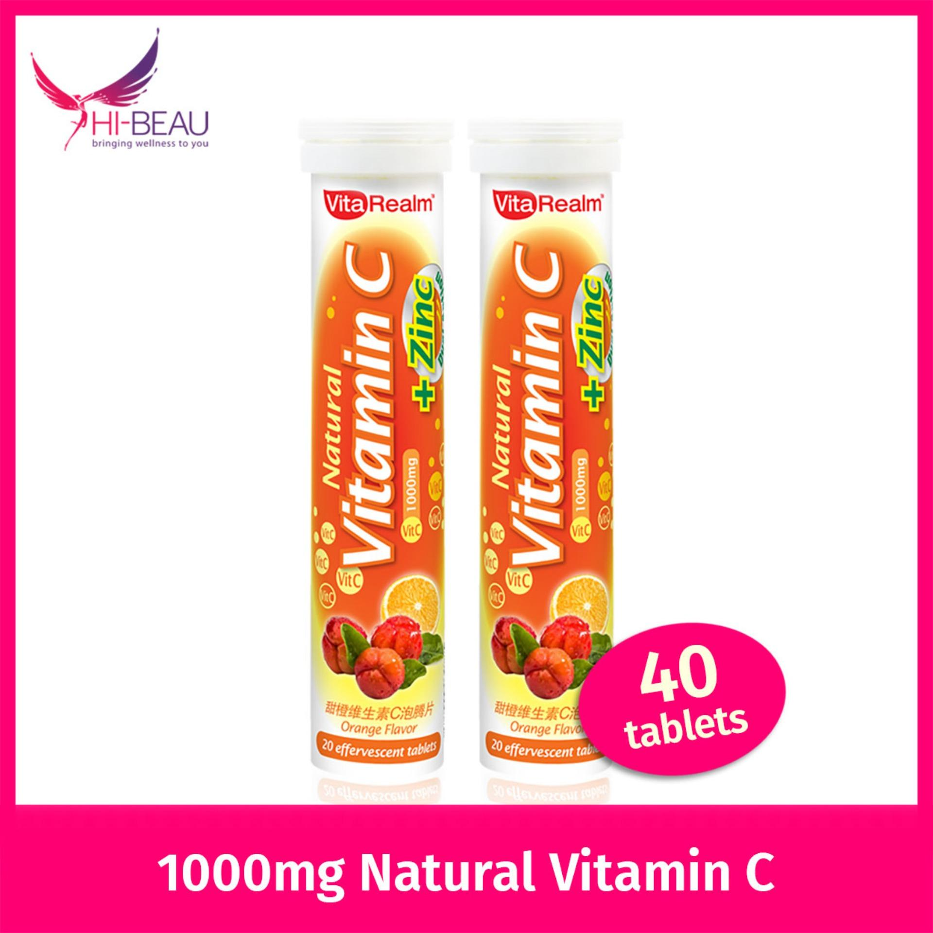 Retail Price Vitarealm Natural Vitamin C Zinc Lutein Twin Pack 40 Tablets