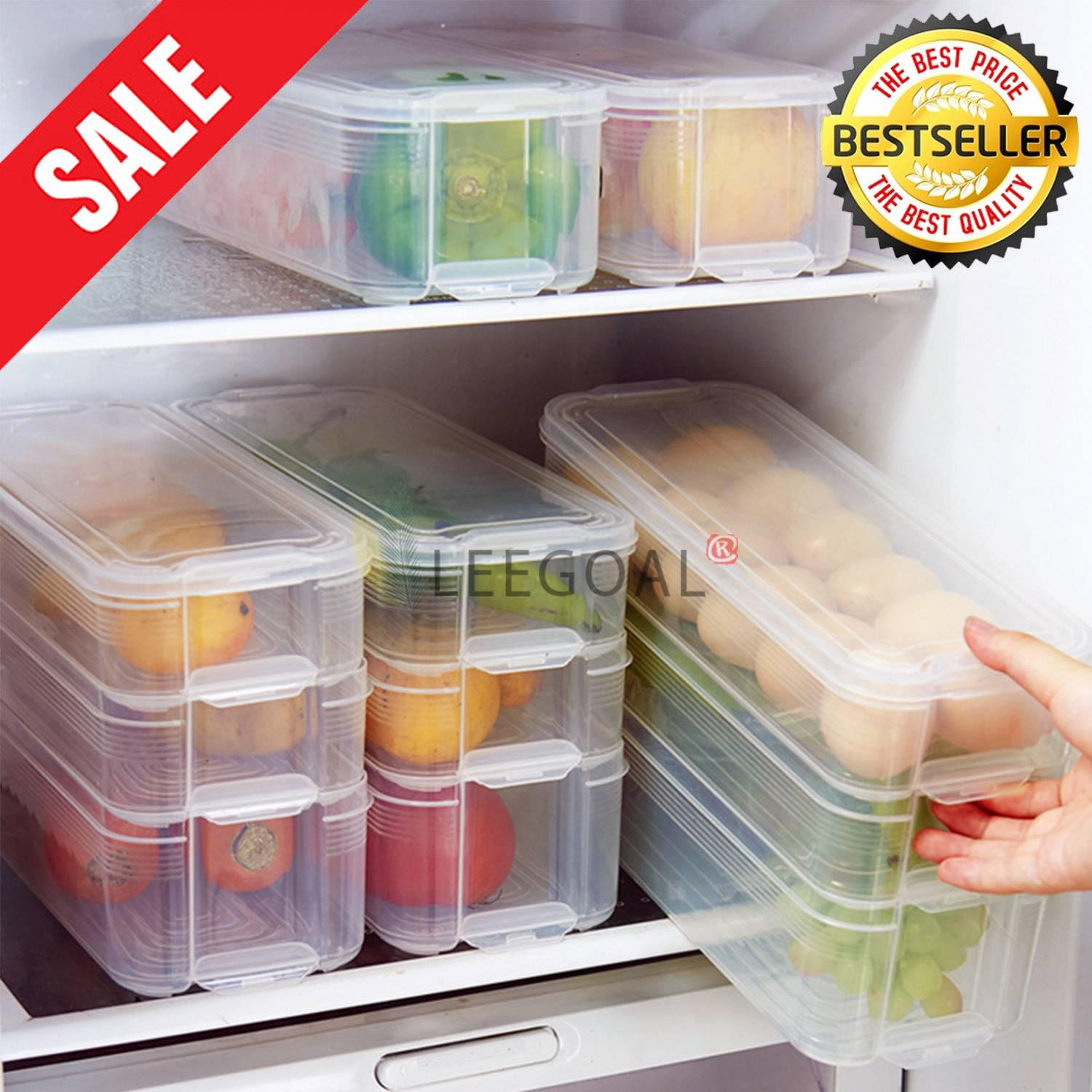 kitchen appliance storage innovative leegoal plastic storage bins refrigerator boxfood containers with lid for kitchen buy latest dining products lazada
