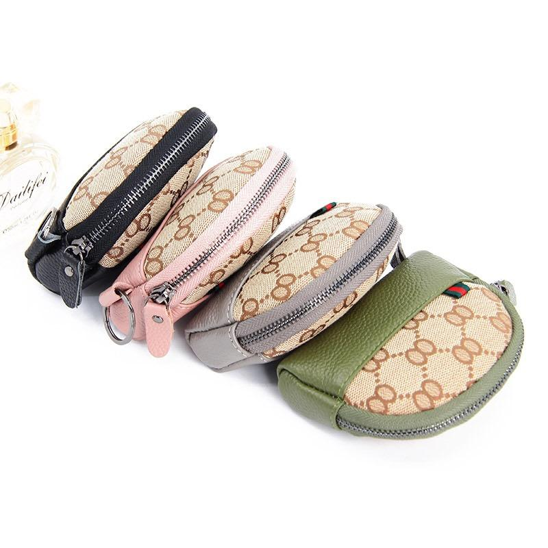 *local Seller Fast Delivery* Leather Canvas Fashion Coin Pouch And Key Ring Card Purse By Sensation Biz.