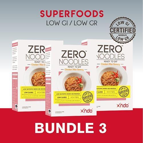 Price Comparison For Bundle Of 3 Xndo Zero Noodles Chicken Mee Goreng