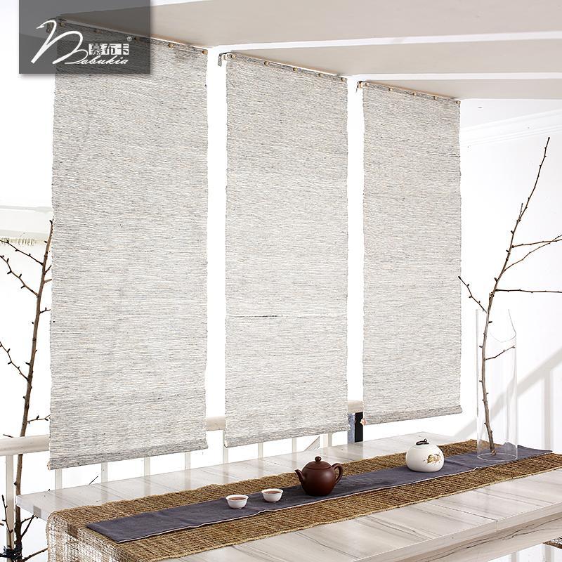 Mobukia Grass Cloth Ramie Fabric men lian zi Japanese Style Curtain Soft Partition Entrance Screen Decoration Curtain Customizable