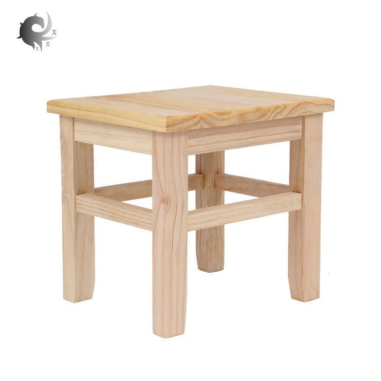 Solid wood small bench, home, small square stool, adult low wooden bench, rural style, shoe bench, childrens bench, high quality wooden material, ergonomic design, durable, fine workmanship (26*21*24cm)