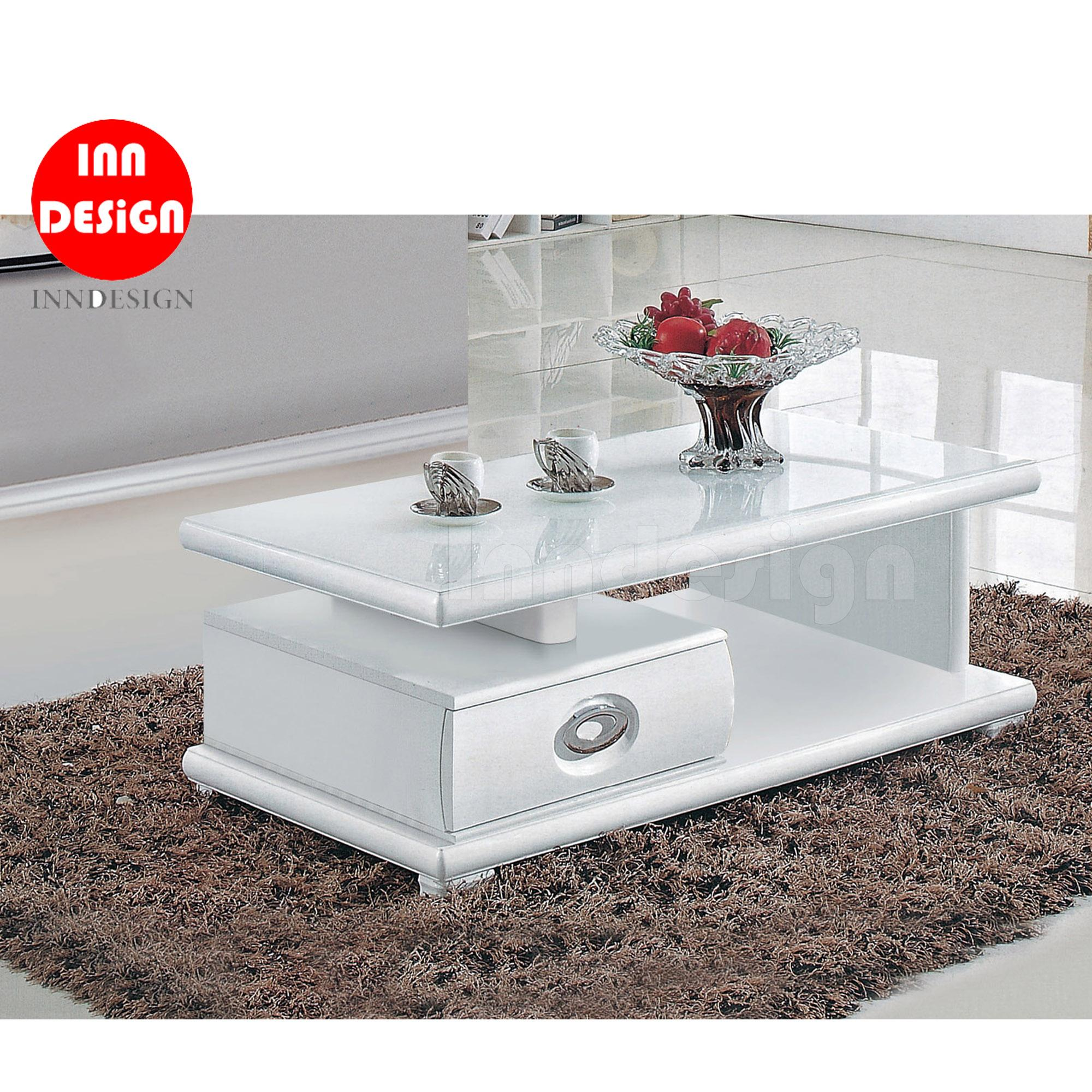 Lorain Tampered Glass Coffee Table