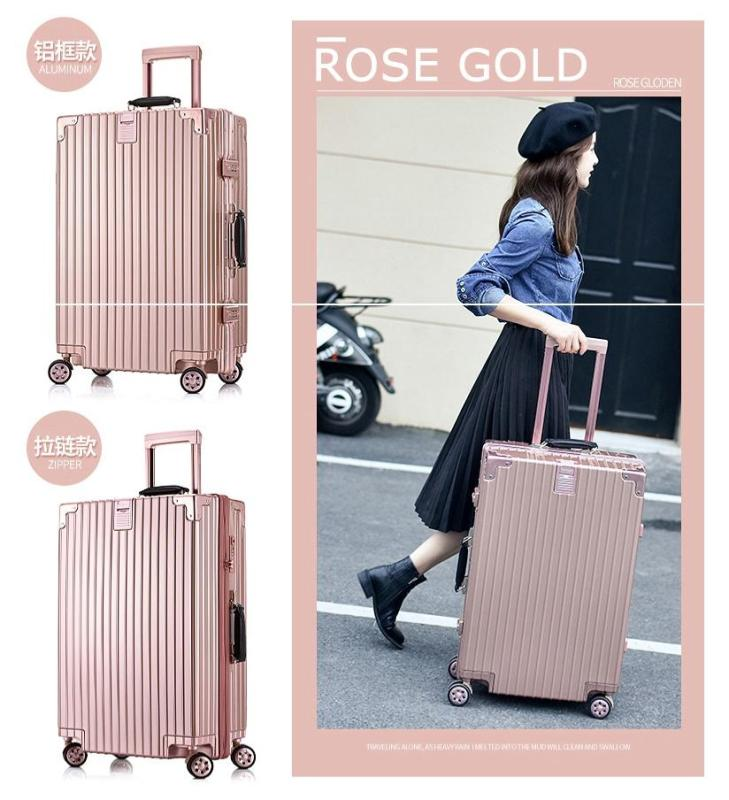 JIJI Deluxe Luggage with Zipper Puller - Travel Bags / Fashion Traveling / Suitcase (SG)