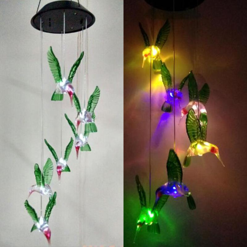 Discount Qearl Shop Solar Lamp Color Changing Led Wind Chimes Light Hanging Home Garden Decor China