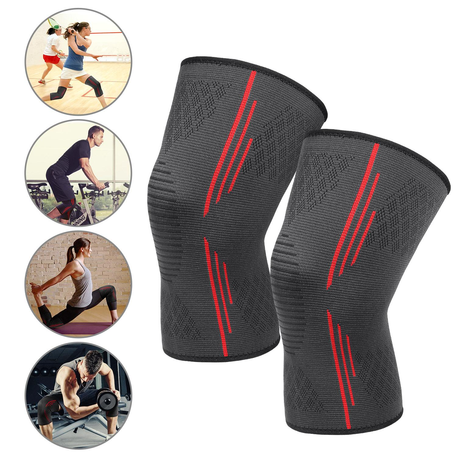 30f8595cee HOMPO Compression Knee Support Brace & Orthosis Sleeves Breathable Anti  Slip Gym Sports Running Jogging Guard