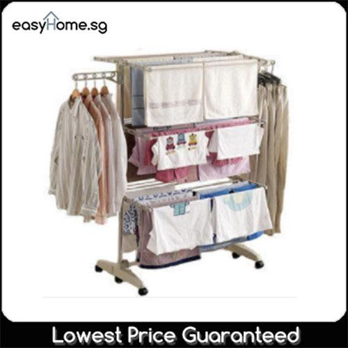 Foldable 3 Deck Drying Rack Laundry Clothes Hanger Compare Prices