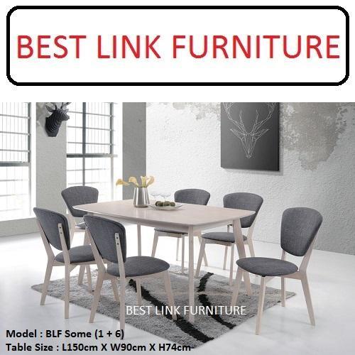 BEST LINK FURNITURE BLF Some (1 + 6) Dining Table Set
