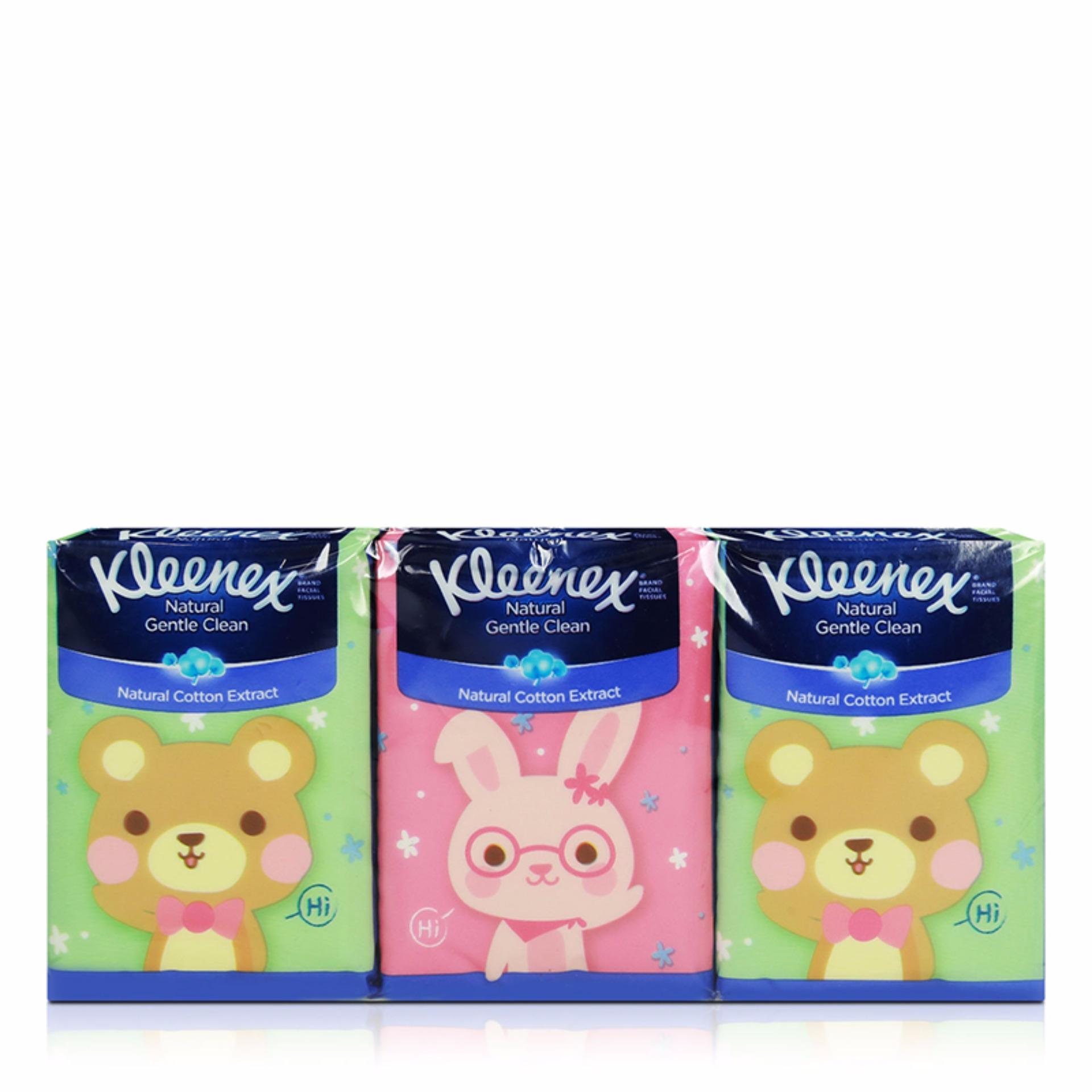 Kleenex Hankey Pack 3-Ply Facial Tissue Pooh 6x9sheets By Kimberly Clark Official Store.