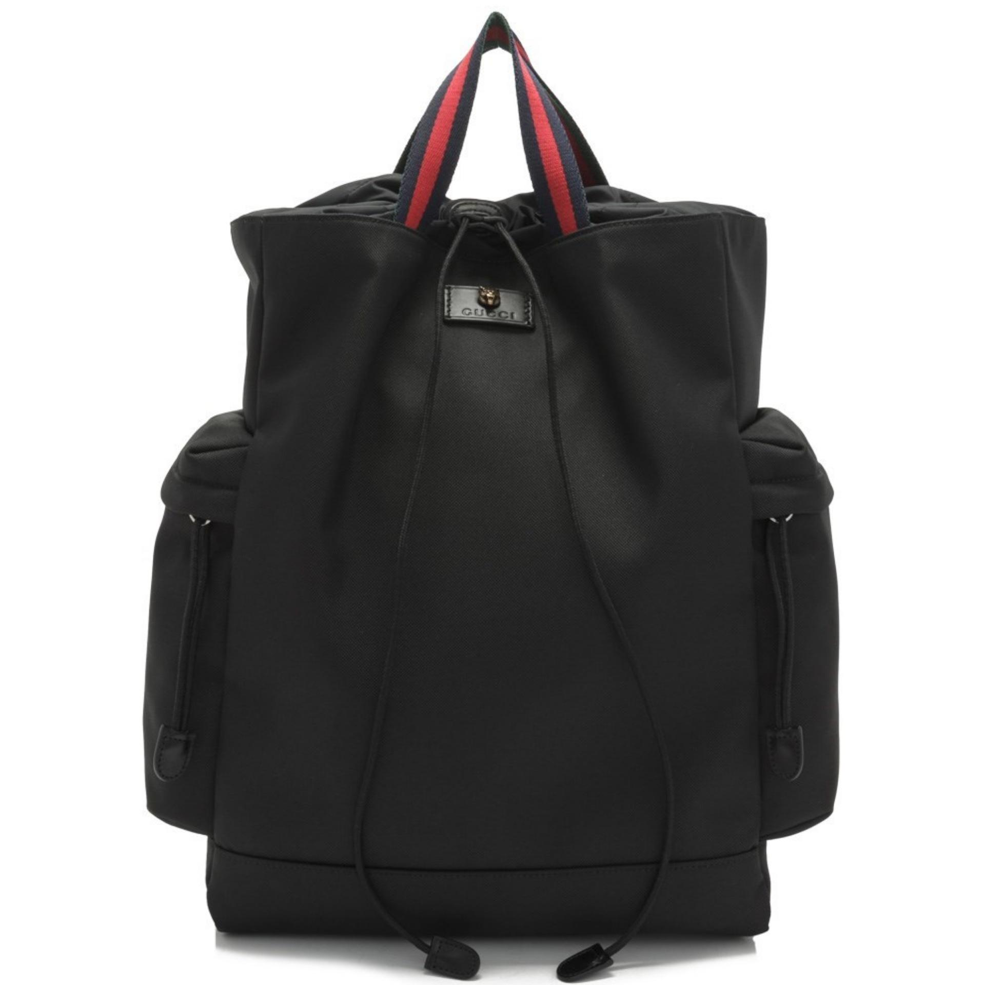 4ad399c4ee77 Gucci Techno Canvas Drawstring Backpack (Black) # 450979K1NCX8545