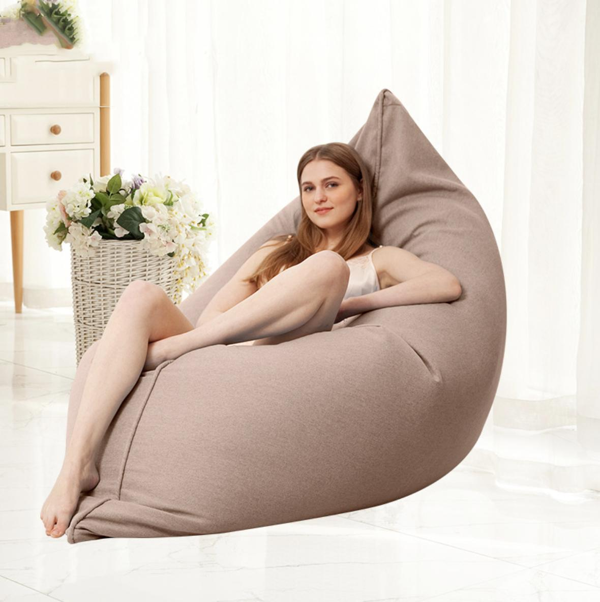 JIJI Tami Multi Purpose Bean Bag ( 130 x 160 Cm ) (Bean Bag) - Beanbag/ Bean bag Chair /Styrofoam particles filled/ Fabric outer layer/ Washable / small sofa (SG)