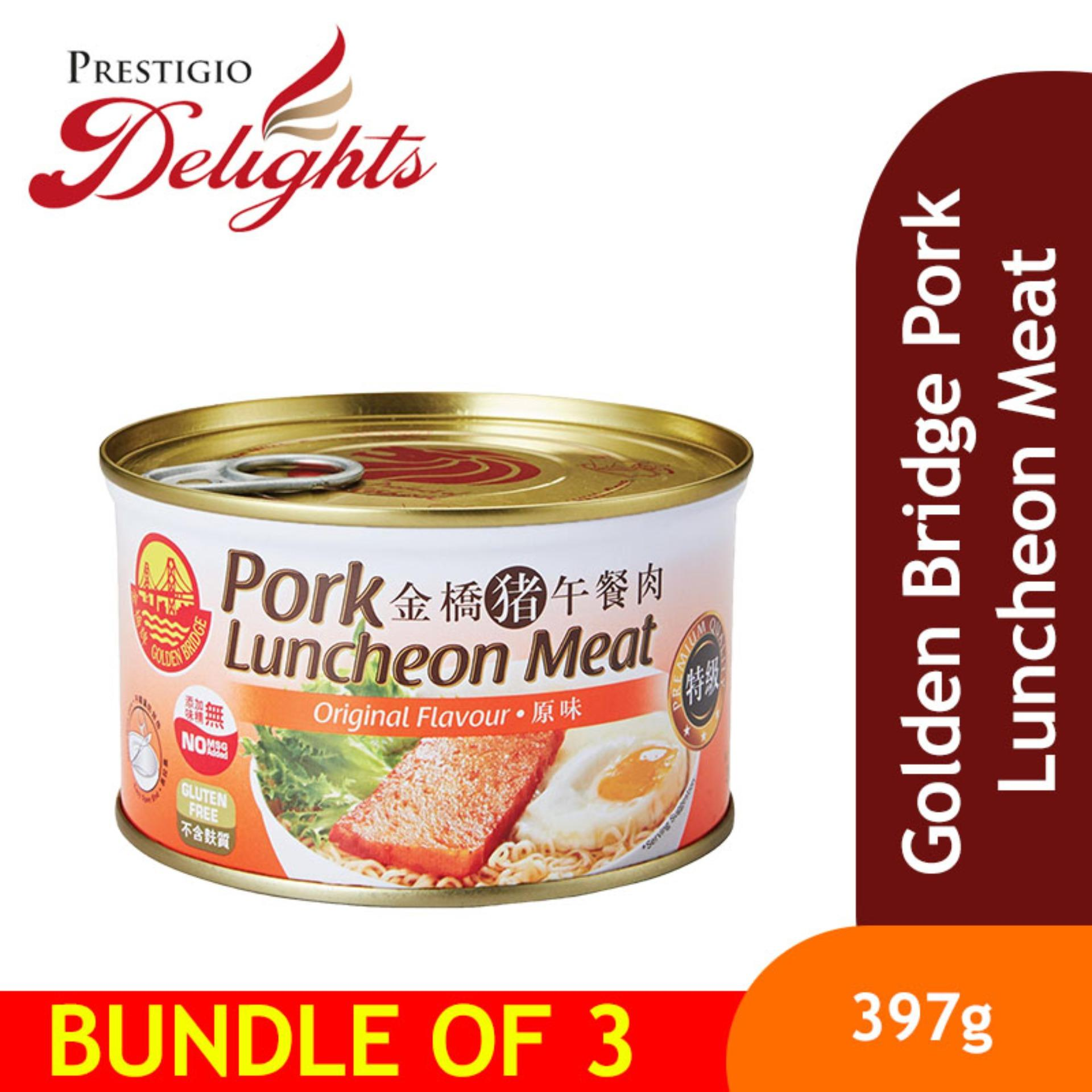 Golden Bridge Pork Luncheon Meat 397g Bundle Of 3 By Prestigio Delights.