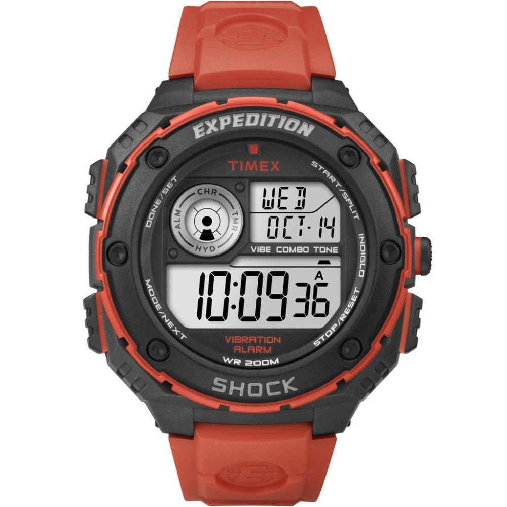 Price Timex Expedition® Vibe Shock Flame Red Resin Strap T49984 Singapore