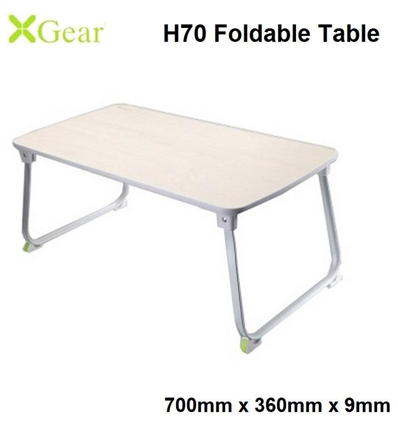 Xgear H70 (700 x 360 x 9mm) Foldable Laptop Table Multi-Purpose Bed Sofa Study