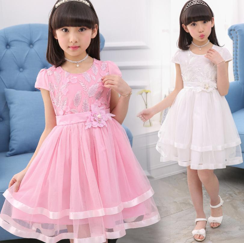 6fc931e966 New Year Party Dresses For Flower Girls Wedding Dresses Elegant Girls  Princess Asymmetric Dress Kids Prom