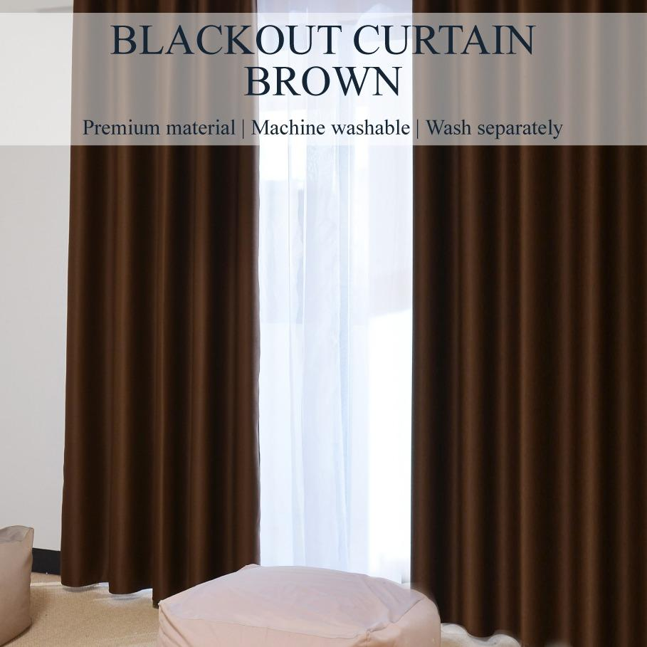 SOL HOME ® 2pcs x 150cm x 200cm (w x h) - Hooks - SIZE M - 99% Blackout Curtains / Blockout Curtains by ShopOnlineLah