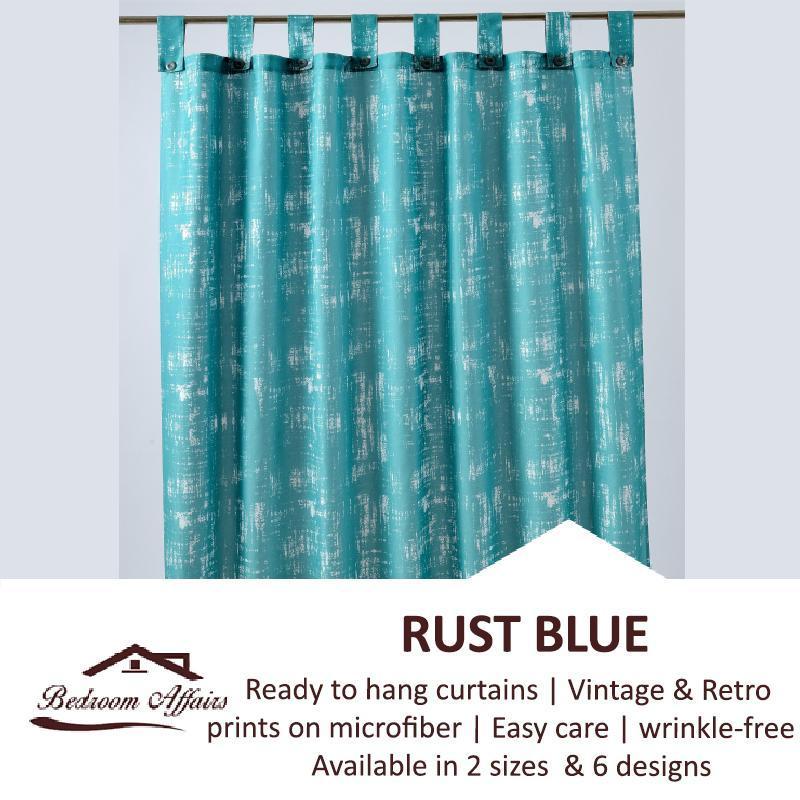 RINCO BONINGTON Rust Blue Curtain (Half Length)