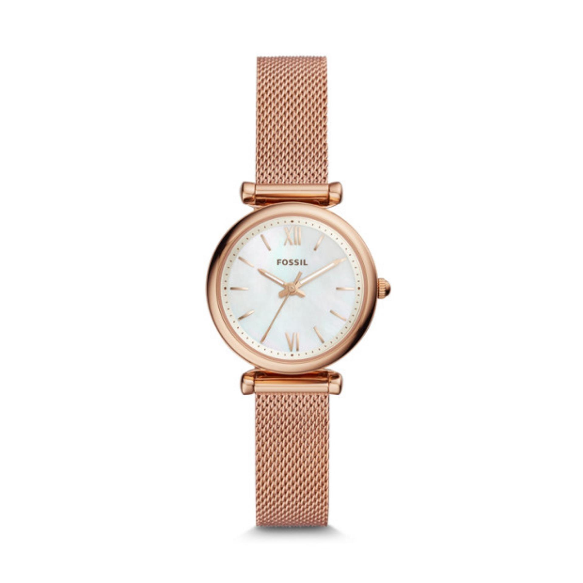 e6f1b8467 Fossil ES4433 Carlie Mini Rose Gold Tone Stainless Steel Ladies Watch