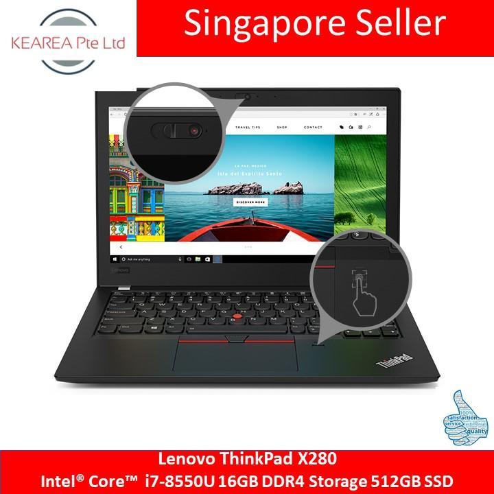 Lenovo ThinkPad X280  Intel® Core™ i7-8550U 16GB DDR4 Storage 512GB SSD