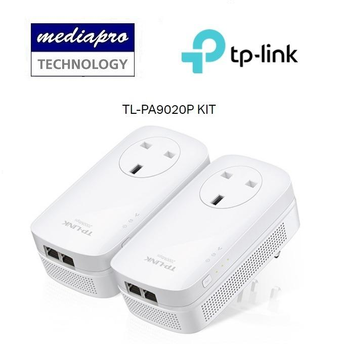 Best Price Tp Link Tl Pa9020P Kit Av2000 2 Port Gigabit Passthrough Powerline Starter Kit Pa9020P 3 Years Local Agent Warranty