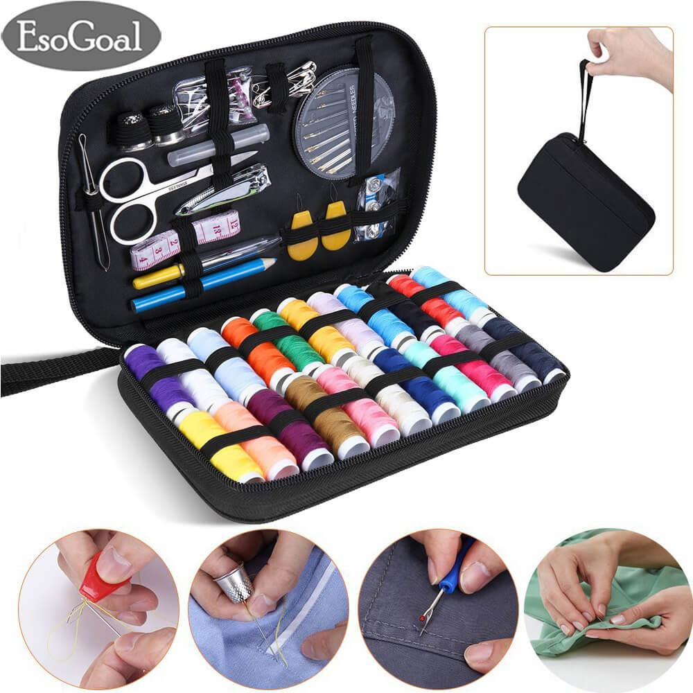 Jvgood Sewing Kit With 90 Sewing Accessories, 24 Thread Reels Sewing Tools Mini Sewing Kit For Beginners Traveller Emergency Family With Zipper Portable Case By Jvgood.