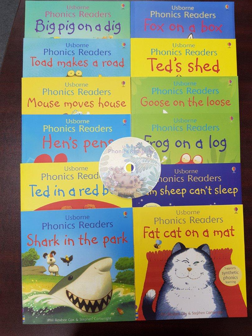 Usborne Phonics Readers Collection - 12 Books + One CD