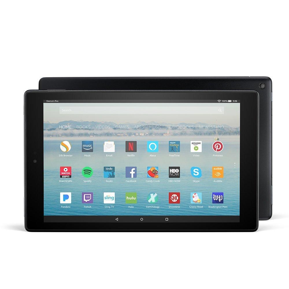 """Amazon Fire HD 10 Tablet (Black) with Alexa Hands-Free, 10.1"""""""