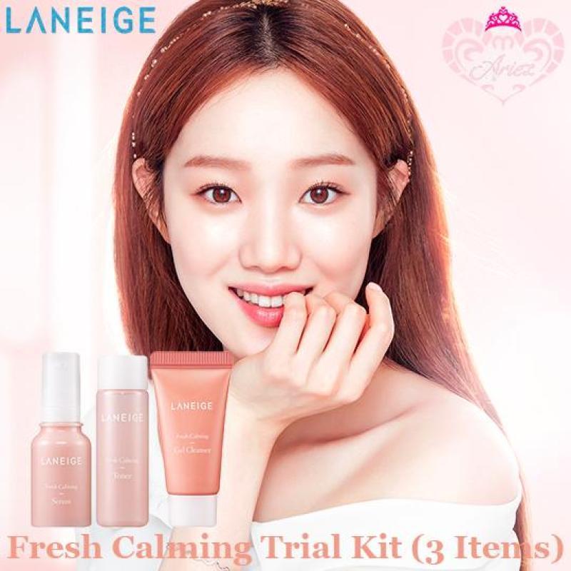 Buy *Ariez* Laneige Fresh Calming Trial Kit (3 Items) (Korea Skincare Travel Sample) Singapore